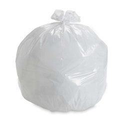 GARBAGE BAGS 20X22 WHITE 500/CS ECOLOGO