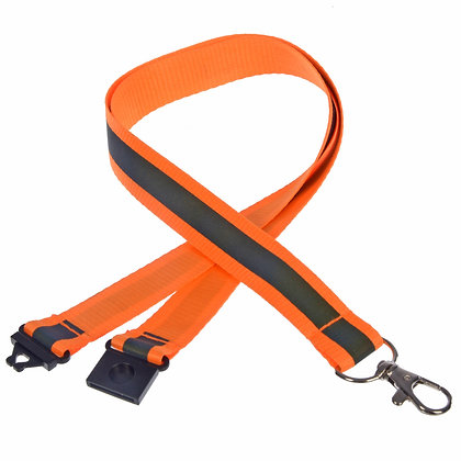 Reflective Neck Lanyard (Orange)