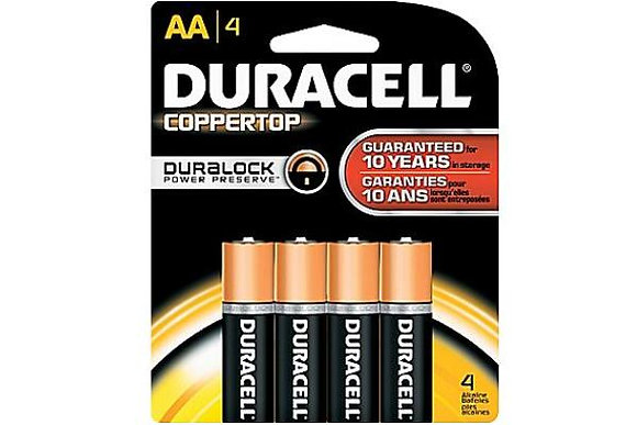 DURACELL - BATTERIES - AA-4PK - MADE IN USA