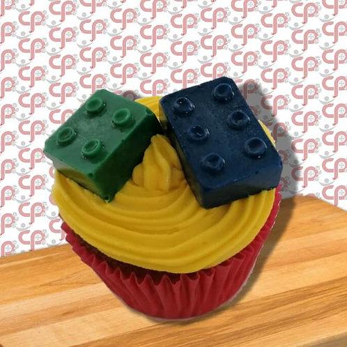 Wit Sjokolade Lego-blokkie Cupcake