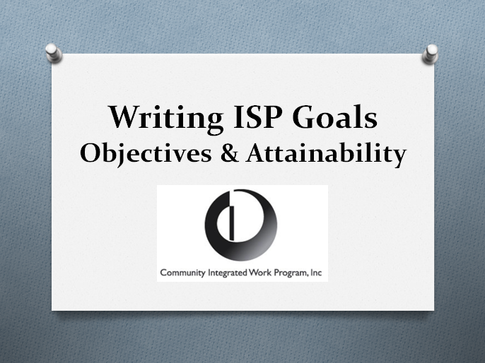 Writing SIP Goals