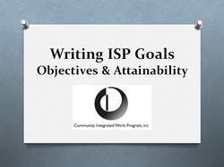 Writing SIP Goals