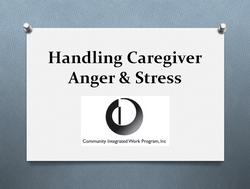 Caregiver Anger