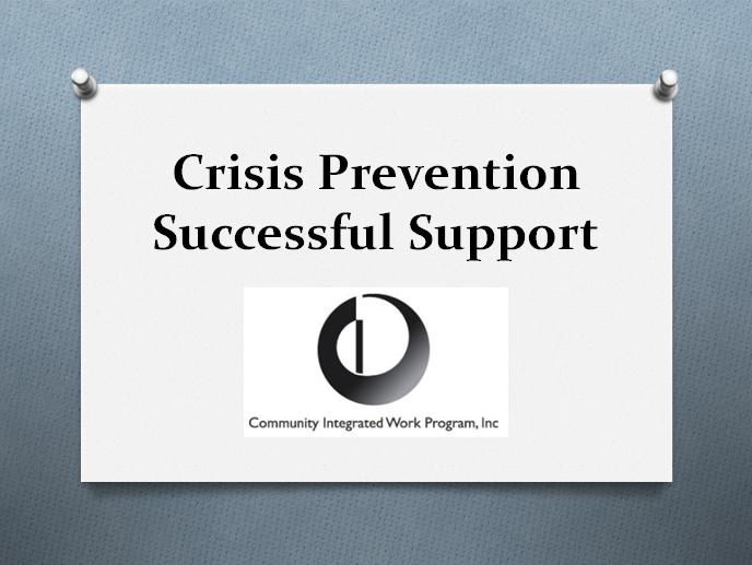 Crisis Prevention