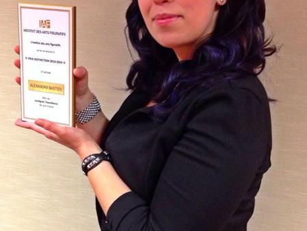 Alexandra Bastien recoit le prix disctinction de l'IAF