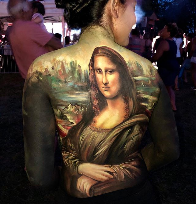AH MONA LISA! 😃_New body Art - Live Per