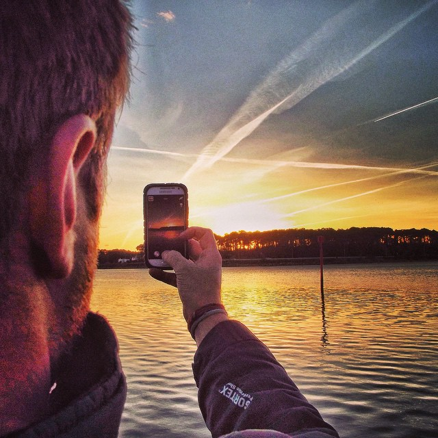Instagram - A picture of a picture! #sunset