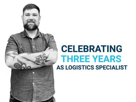Promo Assets Employee Celebrates Three Years as Logistics Specialist