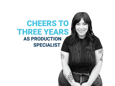 Promo Assets Employee Celebrates Three Years as Production Specialist