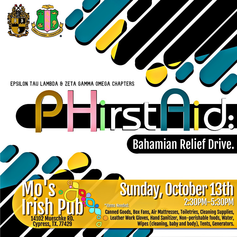 PHIrst Aid: Bahamian Releif Drive