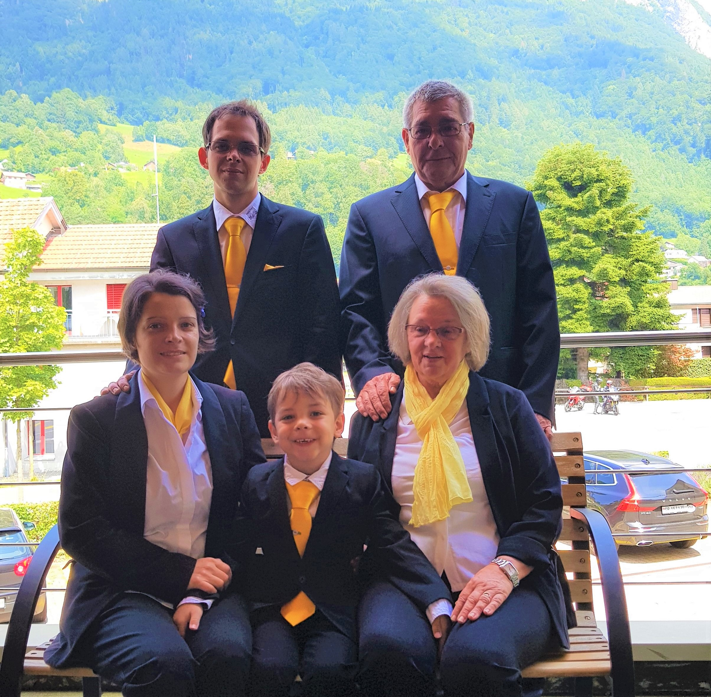 Familienfoto Hotel Post Familie Kunz-Baer