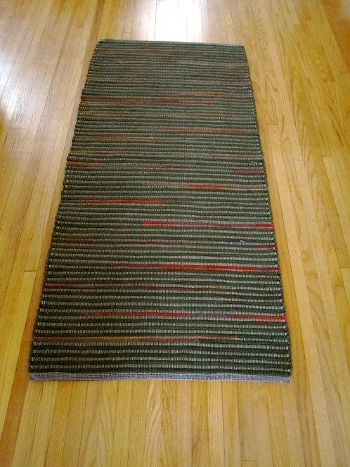 Handwoven wool rug 2 x 5
