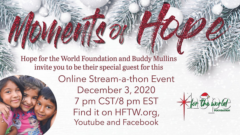 moments of Hope Christmas event indesign