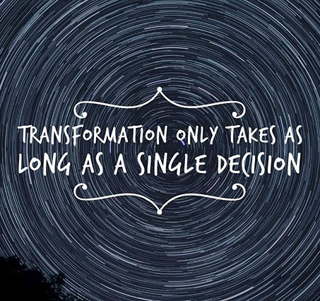 Transformation Only Takes as Long as a Single Decision