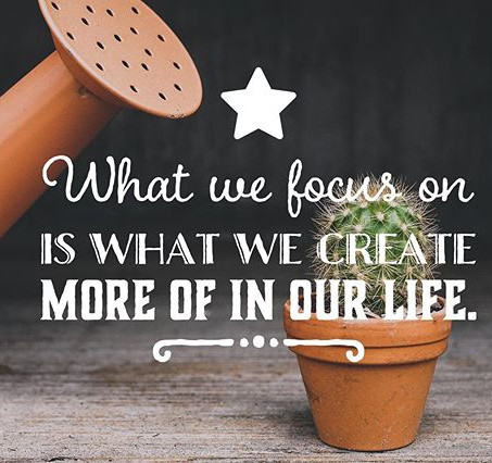 What We Focus On Is What We Create More Of
