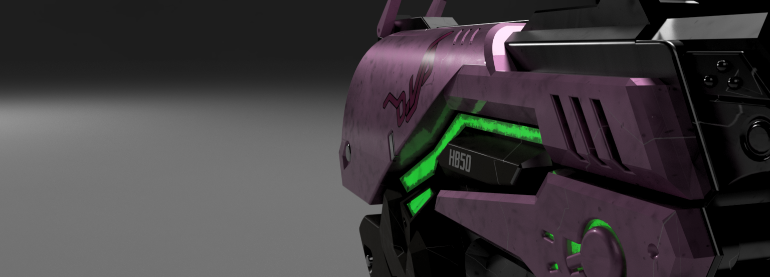 D.VA pistol close up render