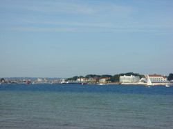 Sandbanks and the chain ferry