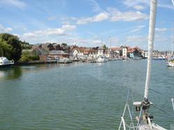 Sailing into Lymington