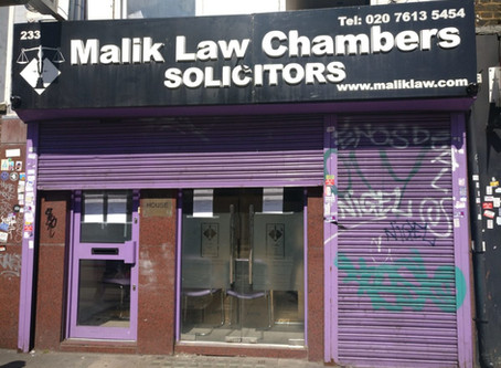 3 offices of Malik Law Chambers solicitors shut down by the Solicitors Regulation Authority - Call M