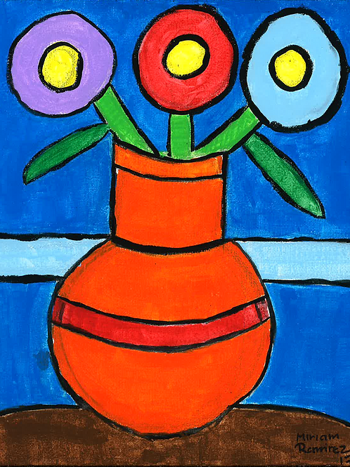 Flower with Vase - Poster