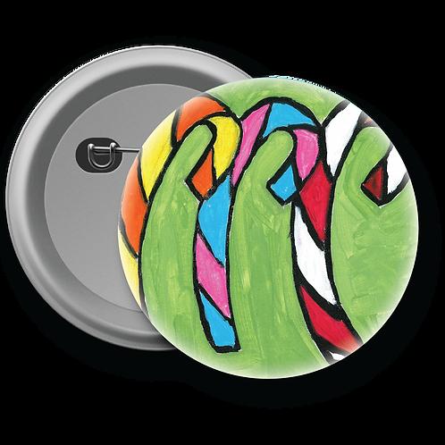Candy Cane Trio - Button