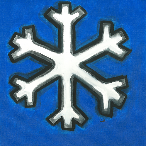 Blue Snowflake - Poster