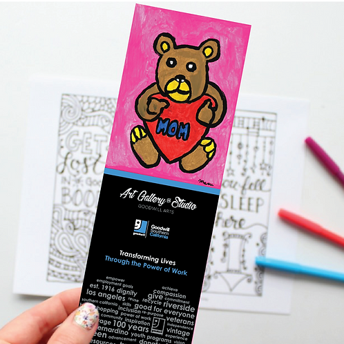 Mothers Day Bear - Book Mark