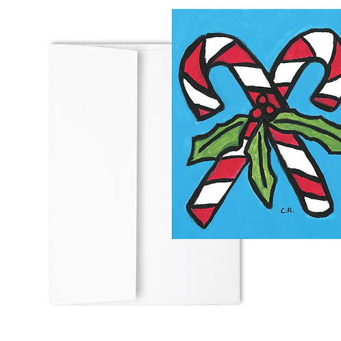 Candy Cane - Holiday Card (12ct)