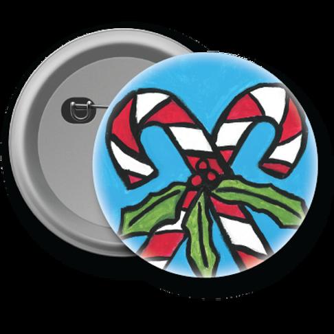 Candy Cane - Button