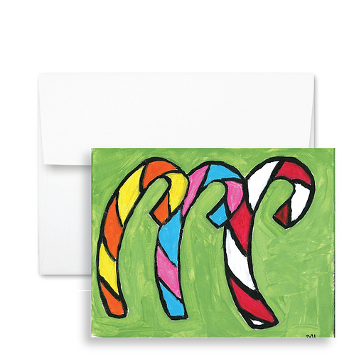 Candy Cane Trio - Holiday Card (12ct)