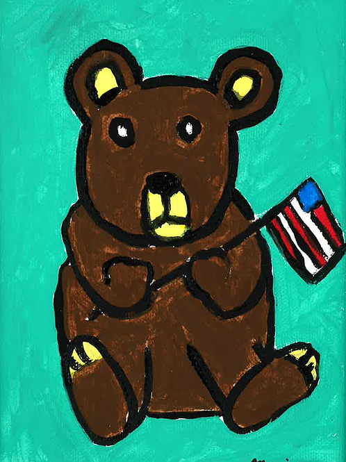 Father's Day Bear - Poster
