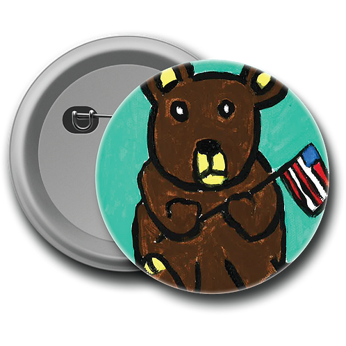 Father's Day Bear - Button