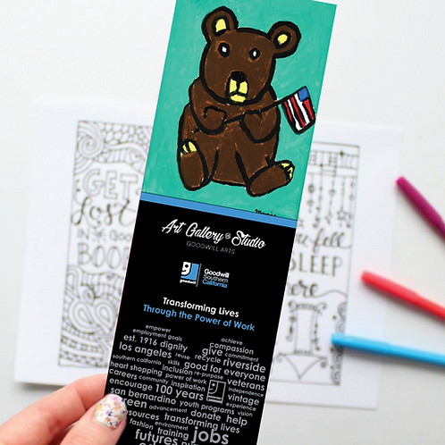Fathers Day Bear - Book Mark