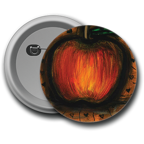 Halloween Apple - Button