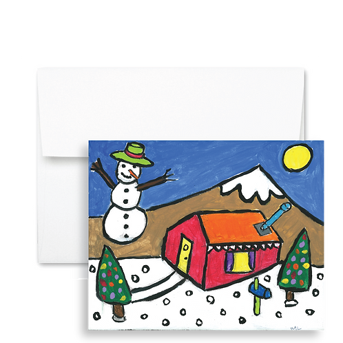 Snowman House - Holiday Card (12ct)