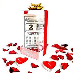 Premium şeffaf kutulu hediye takvim yapr