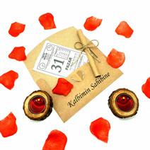 Sevgiliye Doğum Günü Hediye İsme Özel Kalp Zarflı Takvim Yaprağı
