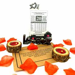 Sevgiliye Doğum Günü Hediyesi Stantlı Cam Çerçeveli Takvim Yaprağı