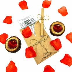 Sevgiliye Eşe Doğum Günü Yıldönümü Hediyesi Zarflı Takvim Yaprağı