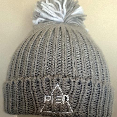 Grey Pier 52 Bobble Hat