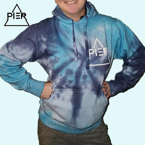 Pier 52 Hoodie TyeDye blue