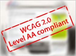 W C A G 2.0 Level A A compliant