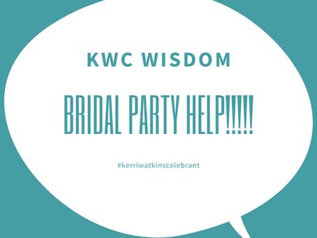 Choosing a Bridal Party