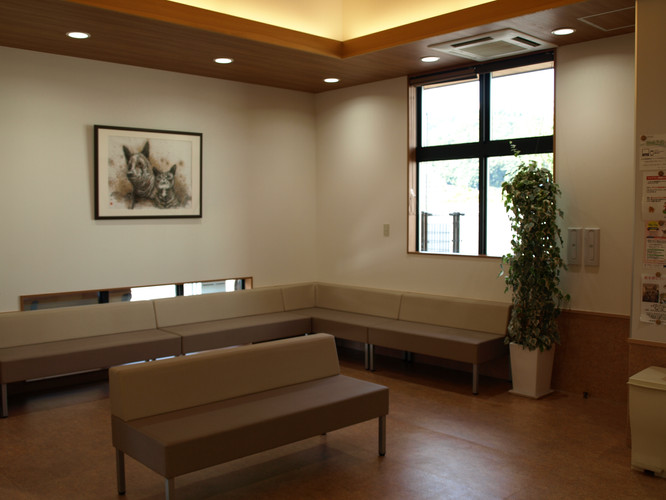 やさか動物病院 待合室