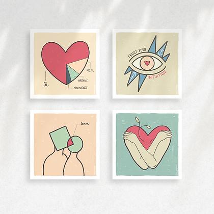 Set 4 Love Cards