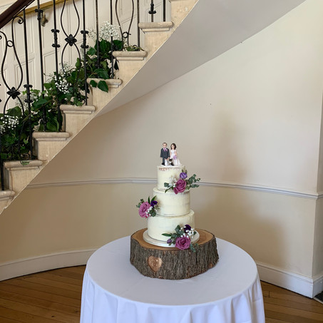 3-tier semi-naked cake