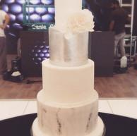 White, Silver & Marble Cake