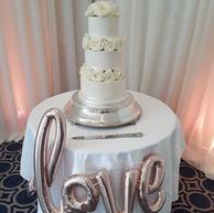 3-tier Ivory Fondant Wedding Cake