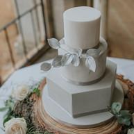 Geometric Marble Cake