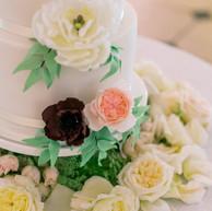 4-tier white wedding cake